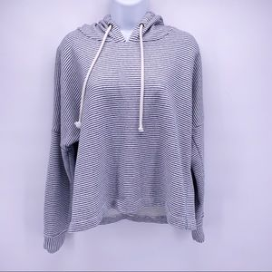 O'Neill Blue and White Striped Hoodie Size Large
